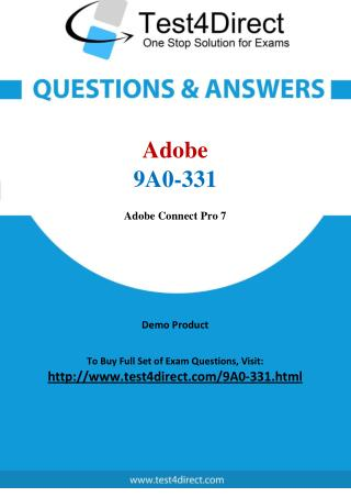 Adobe 9A0-331 Exam Questions