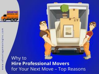 Advantages of Choosing a Professional Moving Company