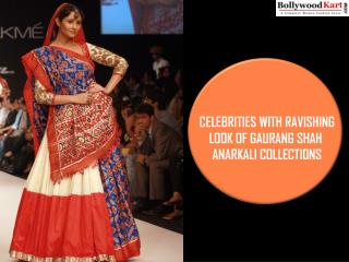 Celebrities With Ravishing Look Of Gaurang Shah Anarkali Collections