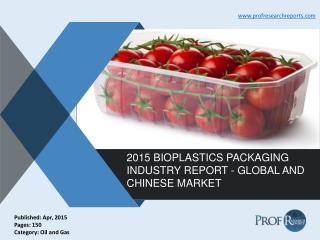 Global and Chinese Bioplastics Packaging Market Trends, Growth 2015 | Prof Research Reports