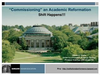 """Commissioning"" an Academic Reformation"