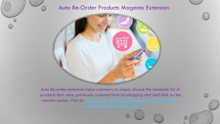 Auto Re-Order Products Magento Extension