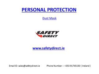 Dust Mask in Ireland at safetydirect.ie