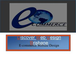 Creative e-commerce website design In Brisbane