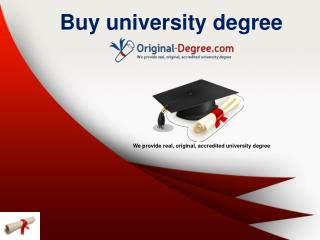 Buy accredited degree