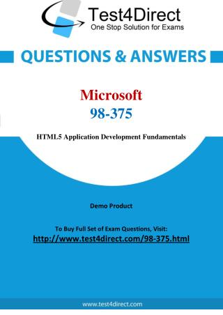 Microsoft 98-375 Exam - Updated Questions