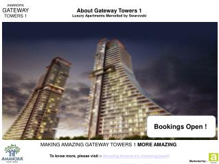 Amanora Gateway Towers - 1BHK/2BHK Apartments for Sale in Hadapsar Pune