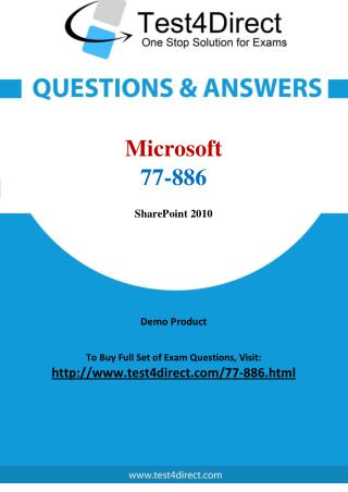 77-886 Microsoft Exam - Updated Questions