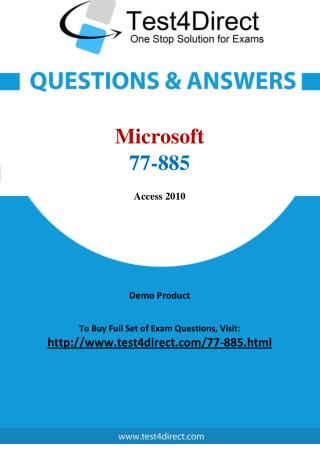 Microsoft 77-885 Test Questions