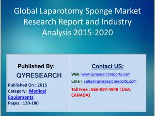 Global Laparotomy Sponge Market 2015 Industry Growth, Trends, Analysis, Research and Development