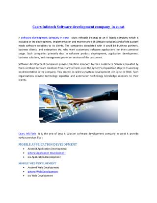 Cears Infotech Software development company in surat