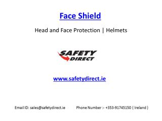 Safety Face Shield in Ireland at SafetyDirect.ie