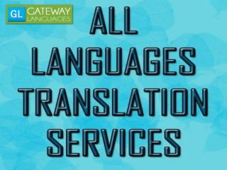 All languages translation services