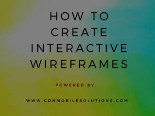How to Create Productive Wireframes?