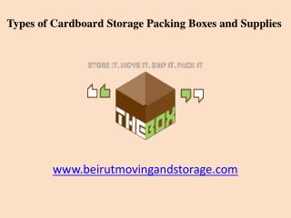 Cardboard Storage Packing Boxes and Supplies in Beirut, Lebanon