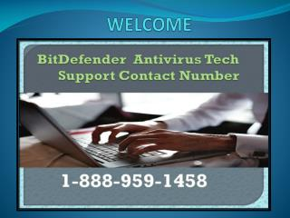 1-888-959-1458 Bitdefender Tech Support