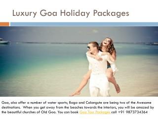 Luxury goa holiday packages
