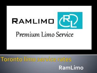 Toronto limo service rates