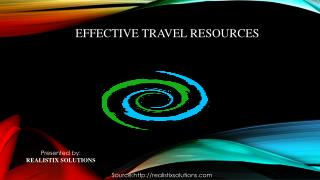 Effective Travel Resources from Realistix Solutions