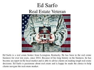 Ed Sarfo Real Estate Veteran