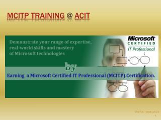 MCITP Training @ ACIT