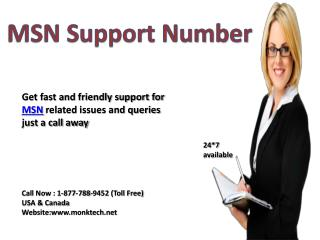 Get support for MSN Call MSN support number 1-877-788-9452 tollfree