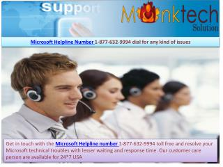 Microsoft Helpline number ~|~ 1-877-632-9994 Toll free