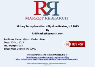 Kidney Transplantation Pipeline Review H2 2015