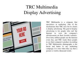 TRC Multimedia - Display Advertising