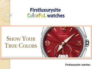 Firstluxury site Colorful watches