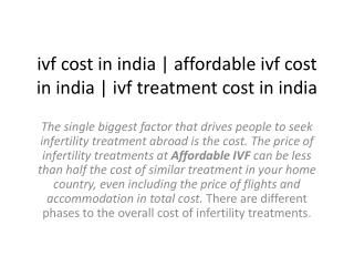 ivf cost in india, affordable ivf cost in india, ivf treatment cost in india