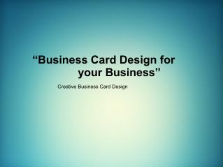 Business Cards | Best Marketing Tool