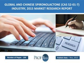 Global and Chinese Spironolactone Industry  Size, Share, Growth, Analysis, Market Trends, Share, Cost, Price 2015