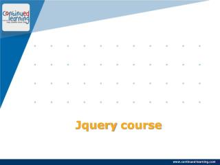 Jquery Course Training