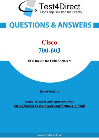 Cisco 700-603 Exam - Updated Questions