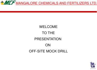 MANGALORE CHEMICALS AND FERTILIZERS LTD.