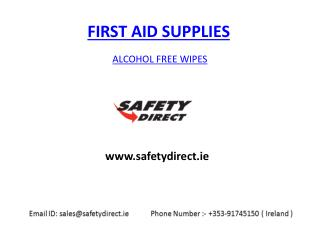 Alcohol Free Wipes in Ireland at safetydirect.ie