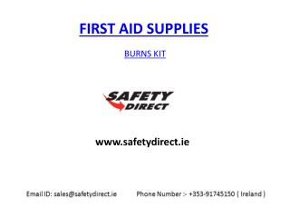 Burns Kit in Ireland at safetydirect.ie