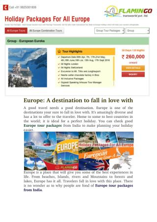 Europe: A Destination To Fall In Love With