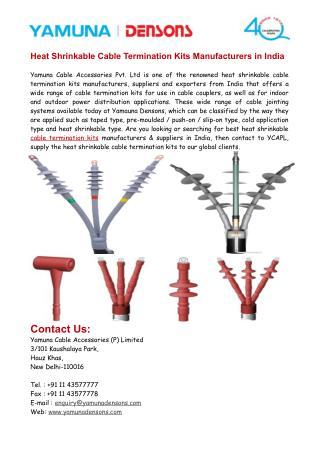 Heat Shrinkable Cable Termination Kits Manufacturers in India