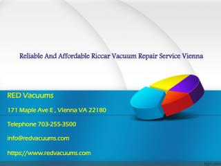 Reliable And Affordable Riccar Vacuum Repair Service Vienna