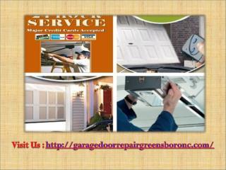 Garage Door Repair Specialists in Greensboro