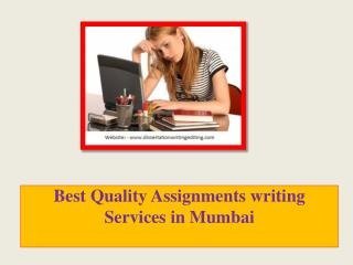 Best Quality Assignments writing Services in Mumbai