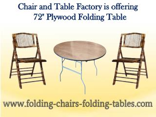 "72"" Plywood Folding Table - Folding Chairs Tables Larry"