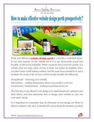 How to make effective website design perth prospectively?