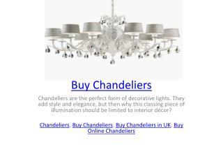 Buy Chandeliers
