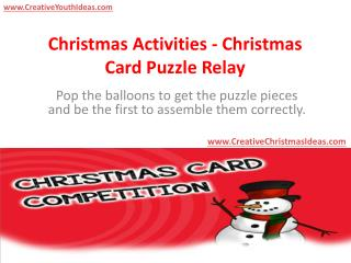 Christmas Activities - Christmas Card Puzzle Relay