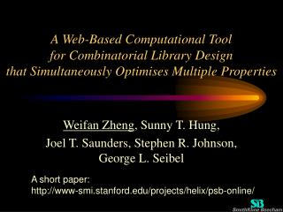 A Web-Based Computational Tool  for Combinatorial Library Design  that Simultaneously Optimises Multiple Properties