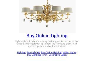 Buy Online Lighting