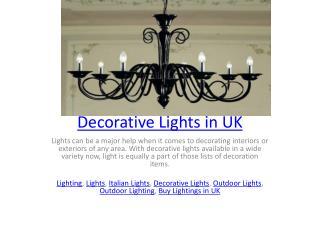 Decorative Lights in UK